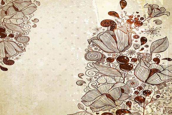 Papier peint déco Brown Flowers