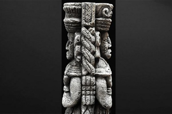adhésif porte Statue Maya