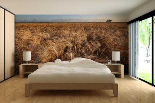 Papier peint trompe l 39 oeil izoa - Deco chambre dore ...
