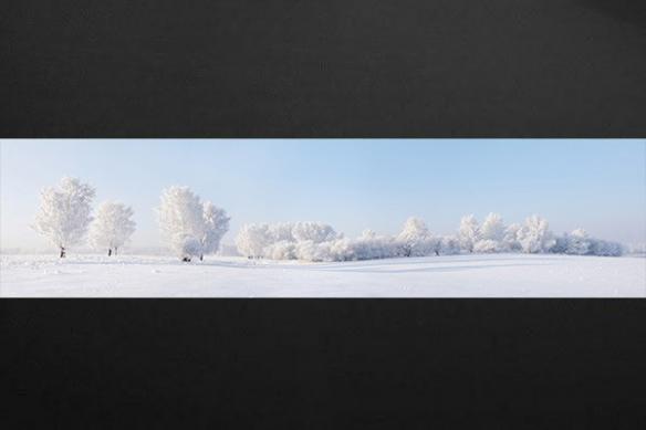 Papier peint zen Douce neige