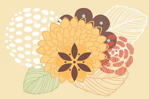 Papier peint décoration Floral Background