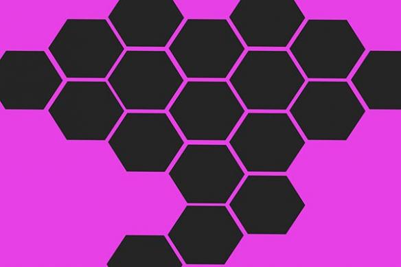 Alvéoles abeilles rose