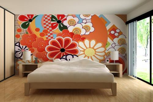 Papier peint Coloful Flowers