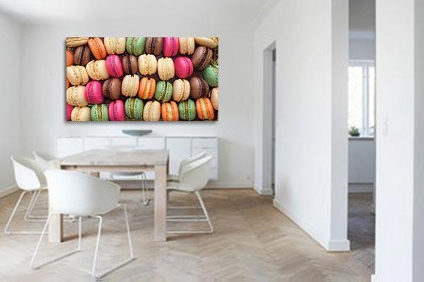 Tableau cuisine boite de macarons izoa - Tableau de cuisine moderne ...