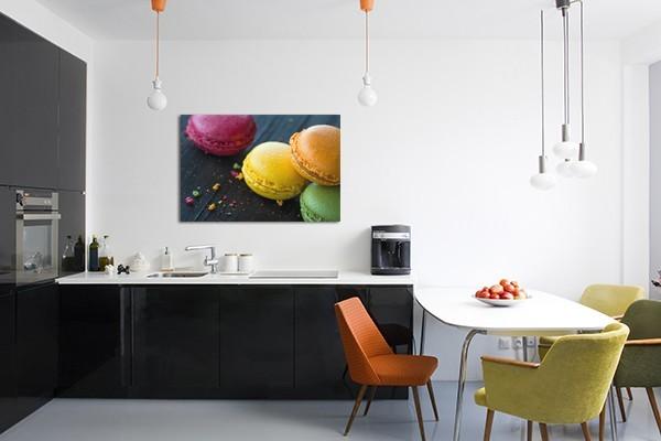 Tableau de cuisine cadre macarons - Deco pour cuisine ...