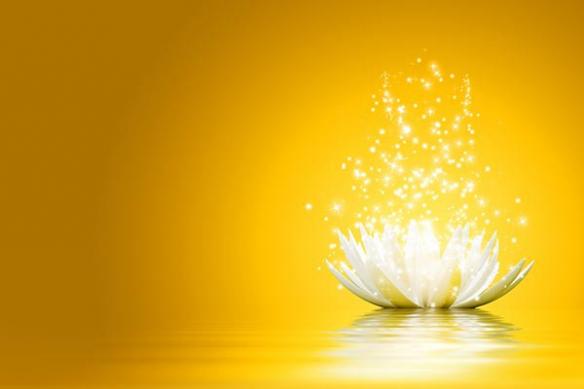 décoration mur lotus jaune