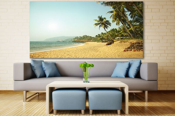 tableau de plage coconut. Black Bedroom Furniture Sets. Home Design Ideas
