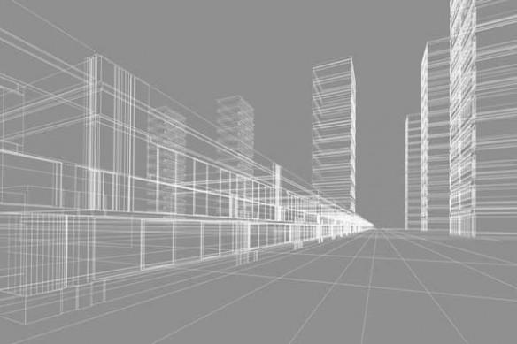 Architecture tableau ville contemporaine