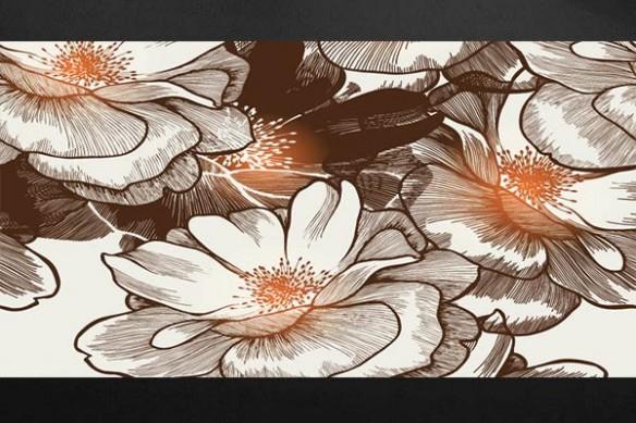 Tableau xxl fleur Ysatis