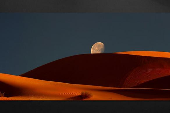 couché de lune sur dune