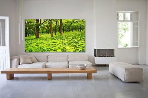 Tableau moderne forêt magique