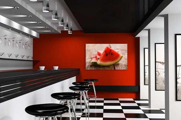 Tableau décoration contemporain pastèque