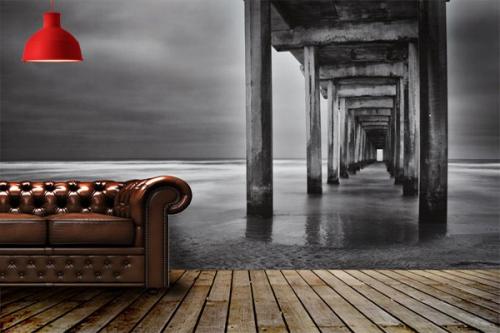 papier peint zen izoa. Black Bedroom Furniture Sets. Home Design Ideas