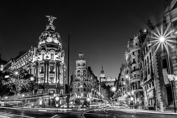 Madrid noir blanc