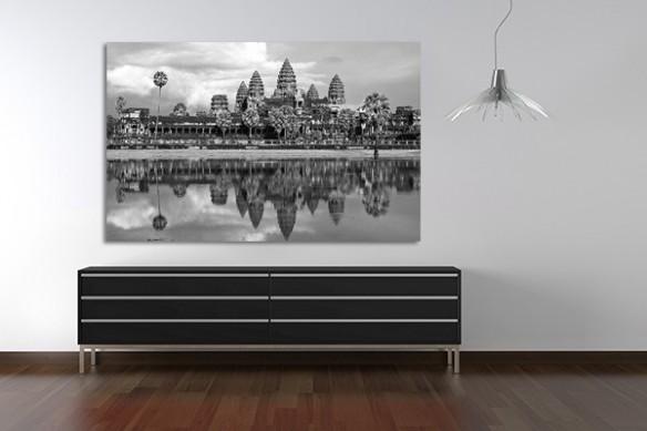 Tableau noir et blanc Ankor