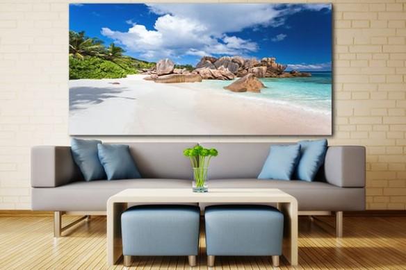 Tableau déco plage Seychelles