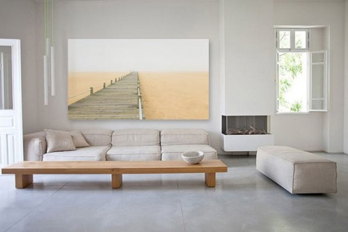 tableau d co bois et sable izoa. Black Bedroom Furniture Sets. Home Design Ideas