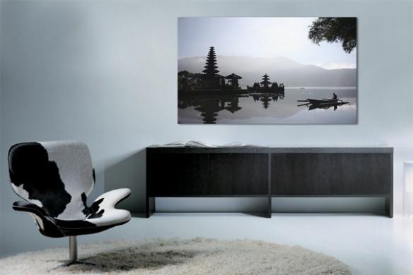 Toile zen paysage bord de mer asiatique