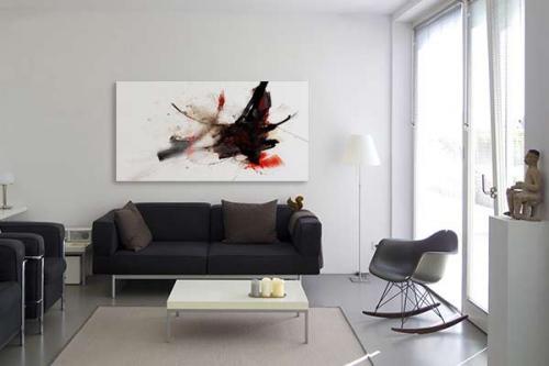 Tableau abstrait bombe abstraite