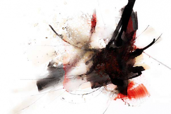 toile abstraite peinture bombe abstraite