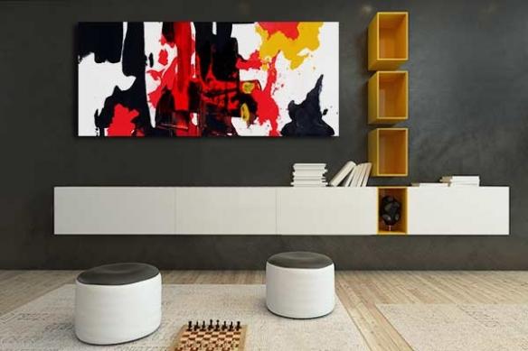 Toile abstraite Colère