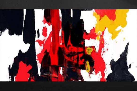 Toile peinture Colère