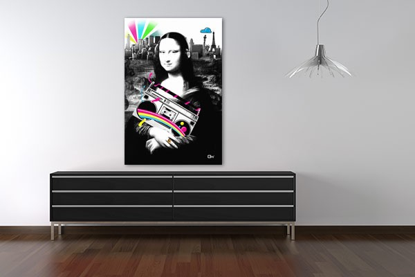 tableau original madame lisa par mathieu gazaix izoa. Black Bedroom Furniture Sets. Home Design Ideas