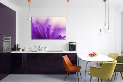 Tableau déco Fleur Violette