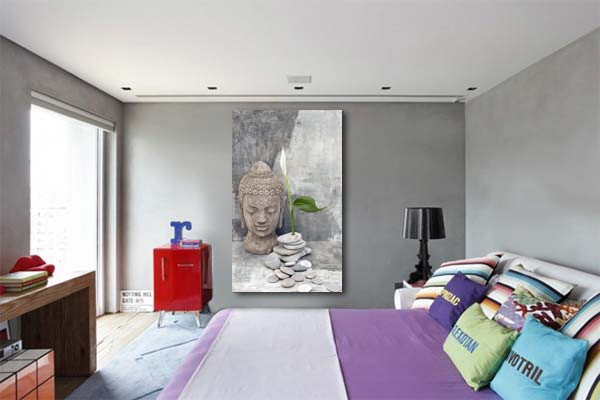 tableau zen statue bouddha izoa. Black Bedroom Furniture Sets. Home Design Ideas