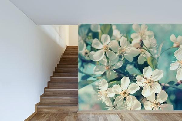 papier peint photo fleurs de printemps izoa. Black Bedroom Furniture Sets. Home Design Ideas