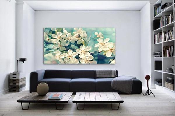 Tableau decoration fleurs printemps izoa - Decoration murale design salon ...