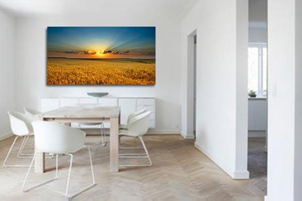 toile decoration murale champ de bl izoa. Black Bedroom Furniture Sets. Home Design Ideas