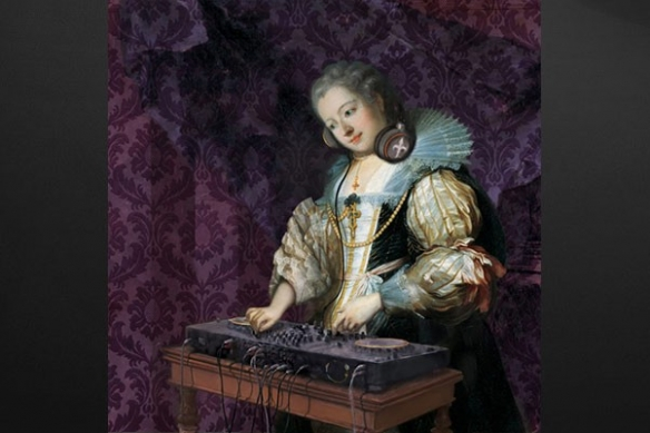 déco baroque romantique DJ Barok