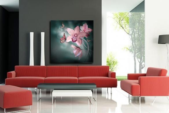 Tableau Fleur Orchidée Rose