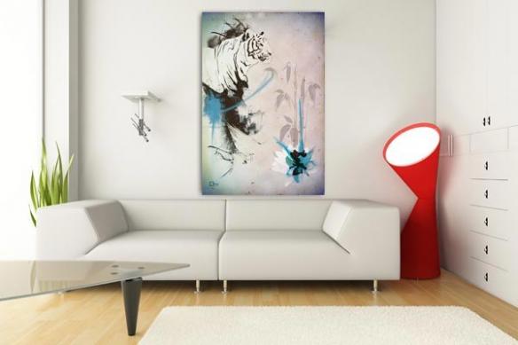 Tableau Tigre par Mathieu Gazaix