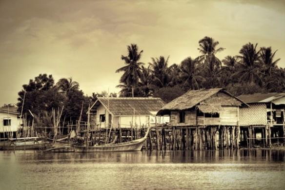 Cabane du pêcheur toile imprimée