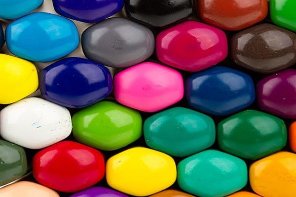 Tableau toile crayons de couleurs