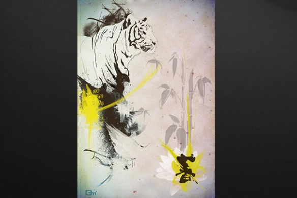 Tigre jaune birmanie