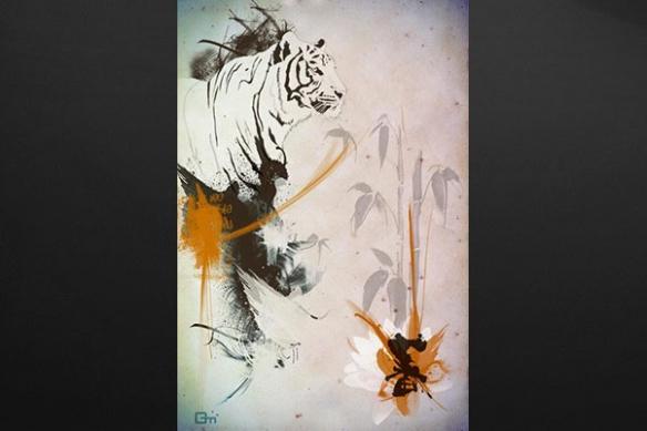 Tableau Tigre siberie