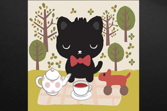 Tableau enfant chat Dinette