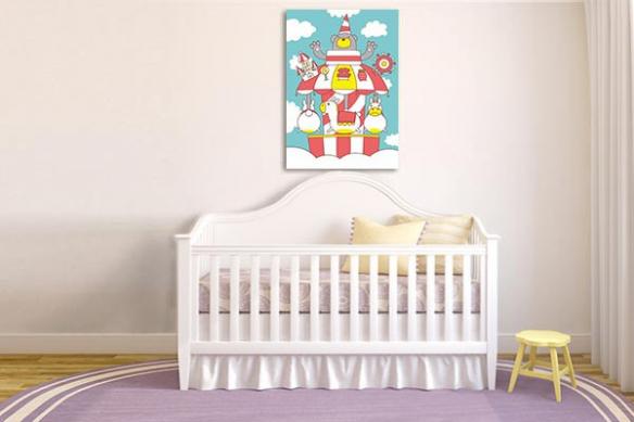 Décoration chambre enfant Manège
