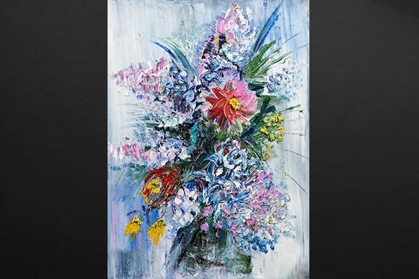 Tableau d co bouquet de fleurs des champs izoa for Bouquet de fleurs nature
