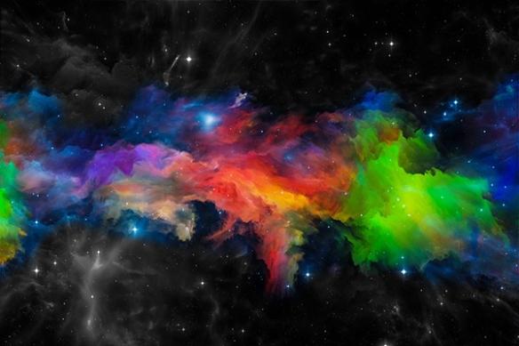 Tableau abstrait décoration Univers