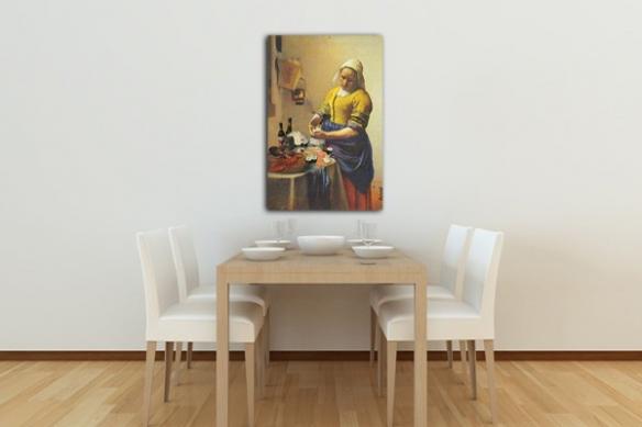 Vermeer la laitierre déco tableau original
