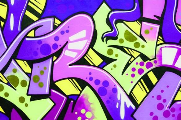 Tableau abstrait Lascaux tag violet