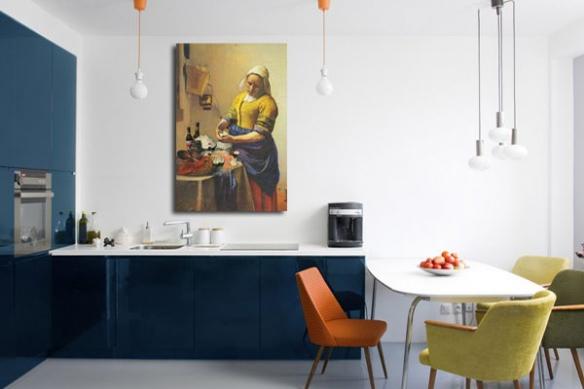 toile murale la laitière Vermeer