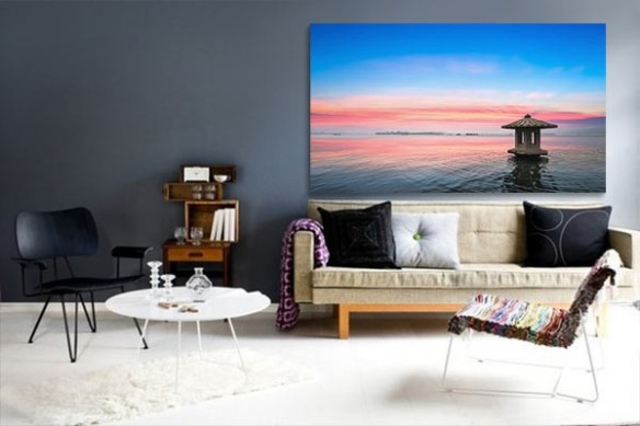 Tableau photo Purple sea