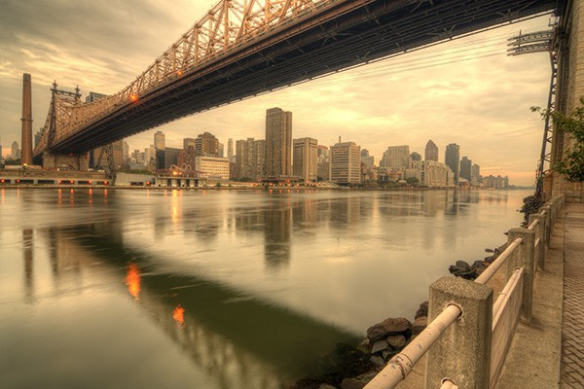 toile New York Brooklyn bridge