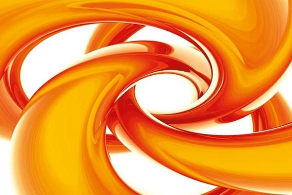 Tableau abstrait design circonférence