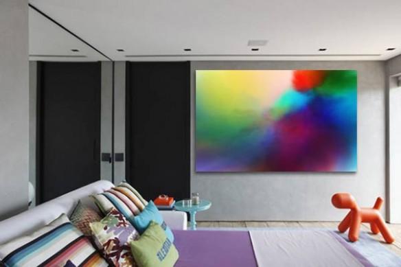 Tableau Abstrait Moderne Aquazur